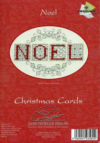 Derwentwater Designs Cross Stitch Kit - Christmas Card, Noel