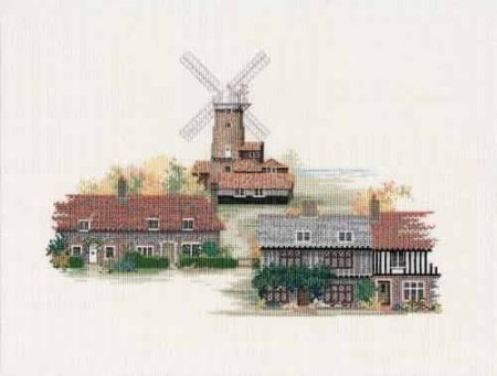 Derwentwater Designs Cross Stitch Kit - Norfolk Village