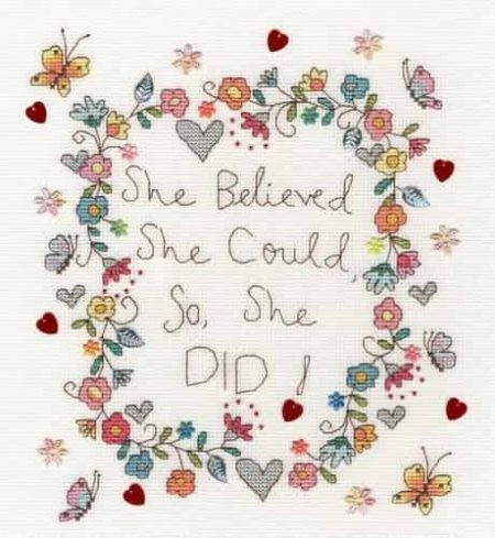 Bothy Threads Cross Stitch Kit - Love Note XKA17