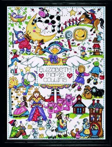 Design Works Cross Stitch Kit - Nursery Rhymes Sampler, Baby