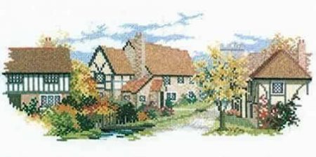 Derwentwater Designs Cross Stitch Kit - The Lanes Series - October Lane