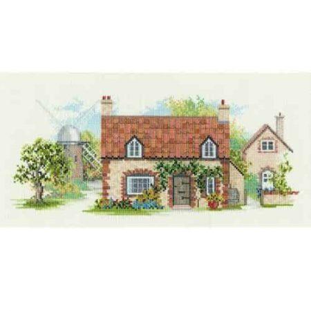 Derwentwater Designs Cross Stitch Kit - The Lanes Series - Old Mill Lane