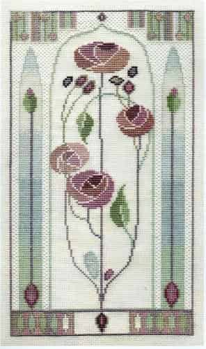 Derwentwater Designs Cross Stitch Kit - Oriental Rose, Mackintosh