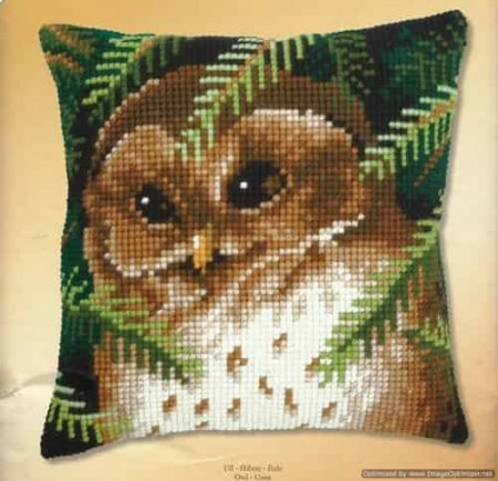 Vervaco Cross Stitch Cushion Front Kit - Owl