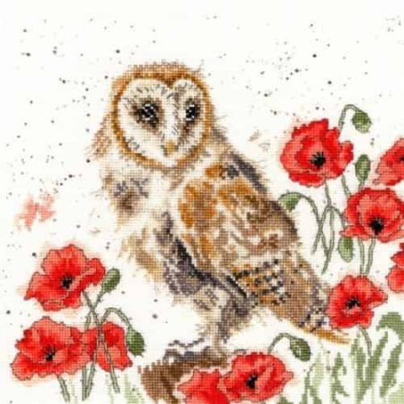 Bothy Threads Cross Stitch Kit - The Lookout, Owl XHD7