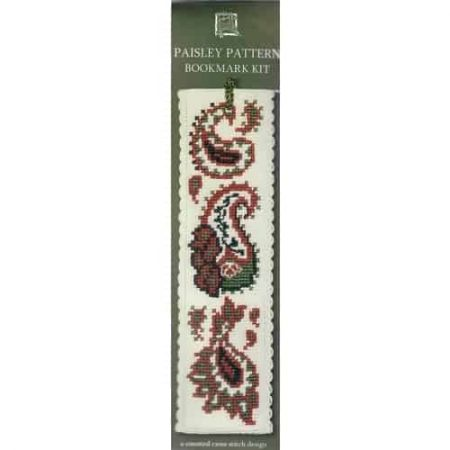 Textile Heritage Cross Stitch Kit - Bookmark - Paisley Pattern - Made in Scotland