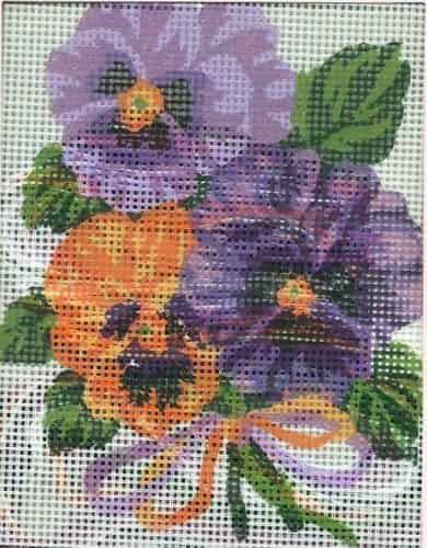 Grafitec Needlepoint Tapestry Kit - Bouquet of Pansies