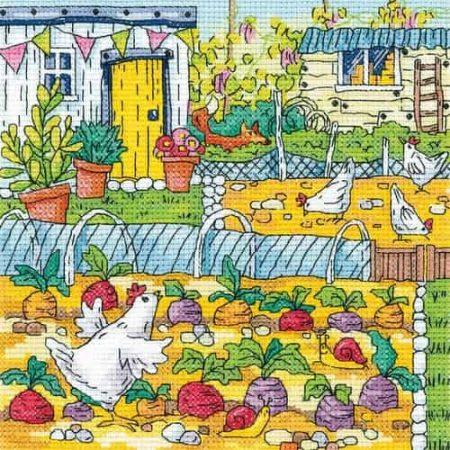 Heritage Crafts Cross Stitch Kit - Vegetable Patch