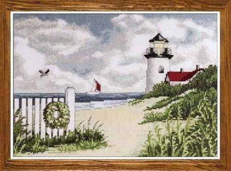 Design Works Cross Stitch Kit - Peaceful Shores, Lighthouse