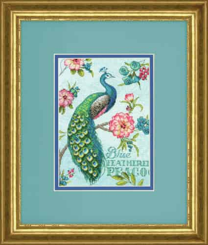 Dimensions Cross Stitch Kit - Gold Petities - Blue Peacock