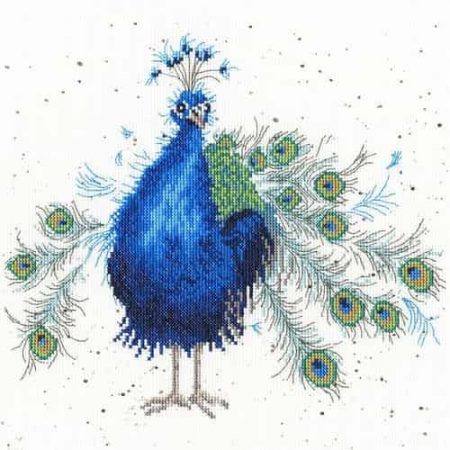 Bothy Threads Cross Stitch Kit - Practically Perfect, Peacock XHD25
