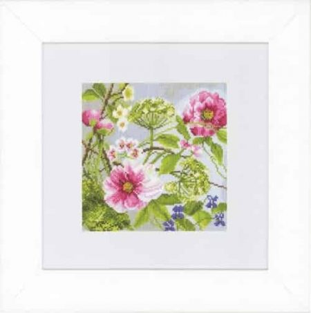 Lanarte Cross Stitch Kit - Peonies, Flowers