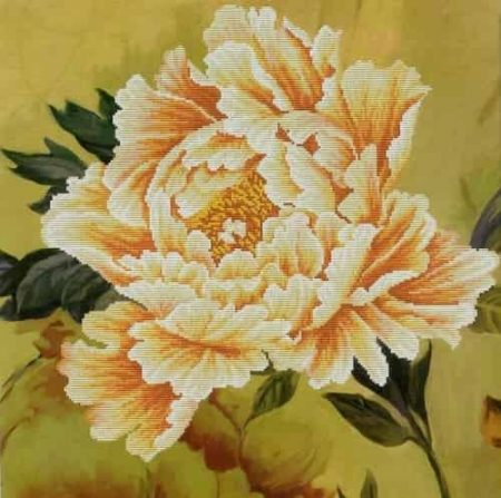 Needleart World No Count Cross Stitch Kit - Blooming Peony 2