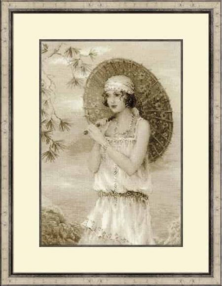 Riolis Cross Stitch Kit - Old Photo - Riviera - 1920's lady 1434