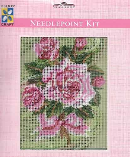 Grafitec Needlepoint Tapestry Kit - Pink Rose Bouquet