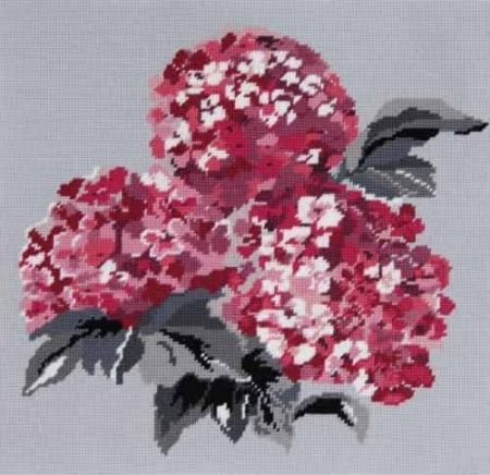 DMC Preprinted Canvas Tapestry - Pink Hydrangeas