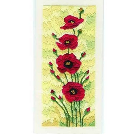 Derwentwater Designs Long Stitch Kit - Field Poppies
