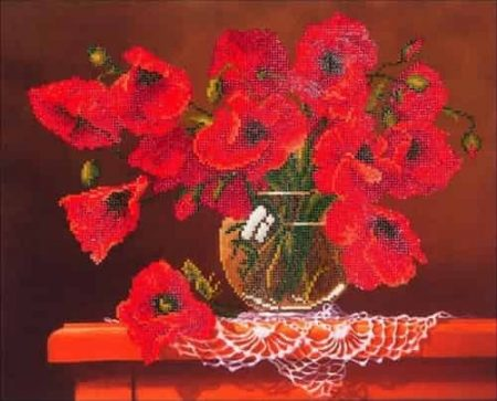 Diamond Dotz - Red Poppies DD9.002 - Diamond Facet Art Craft Kit