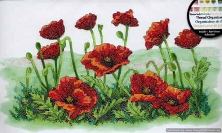Dimensions Stamped Cross Stitch Kit - Field of Poppies