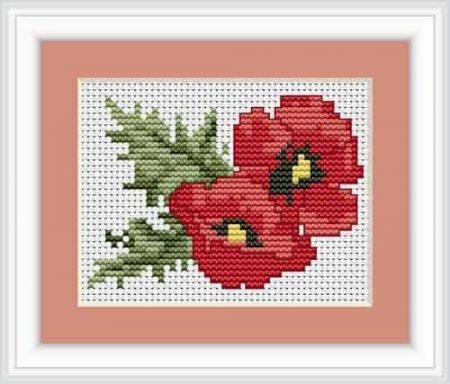Luca S Cross Stitch Kit - Poppy