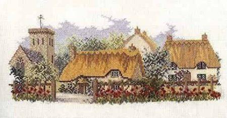Derwentwater Designs Cross Stitch Kit - The Lanes Series - Poppyfield Lane