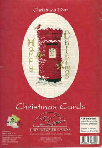 Derwentwater Designs Cross Stitch Kit - Christmas Card, Christmas Post