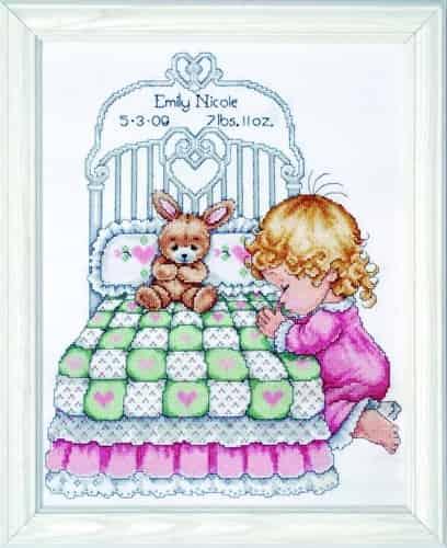Tobin Baby Design Works Cross Stitch Kit - Bedtime Prayer Girl