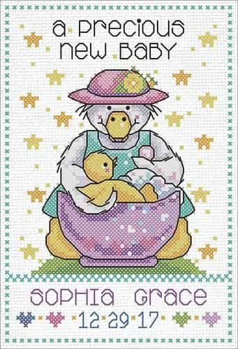 Design Works Cross Stitch Kit - Precious Baby, Birth
