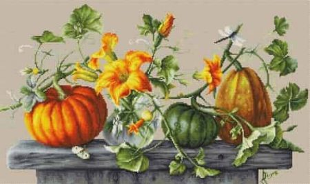 Luca-S Cross Stitch Kit - Pumpkins