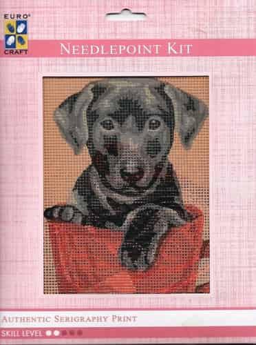 Grafitec Needlepoint Tapestry Kit - Black Puppy