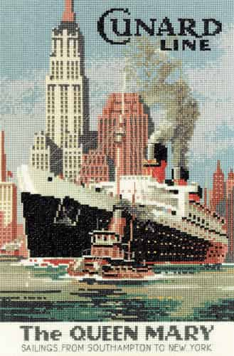 Heritage Crafts Cross Stitch Kit - Queen Mary, Ship, Liner