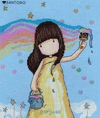Bothy Threads Cross Stitch Kit - Gorjuss - Rainbow Dreams XG32