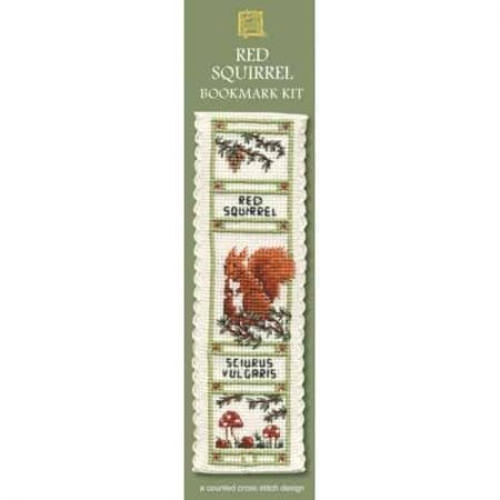Textile Heritage Cross Stitch Kit - Bookmark - Red Squirrel - Made in Scotland