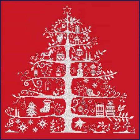 DMC Cross Stitch Kit - Christmas Tree Red
