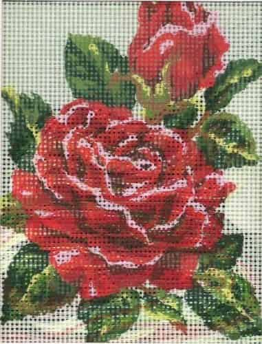 Grafitec Needlepoint Tapestry Kit - Red Rose and Rosebud