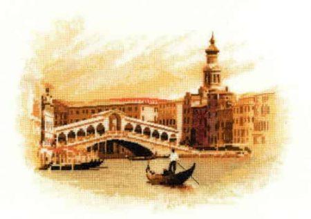 Heritage Crafts Cross Stitch Kit - The Rialto, Venice