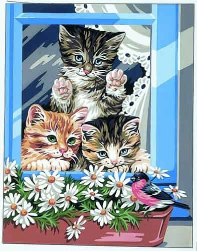 Royal Paris Preprinted Canvas Tapestry - The Little Riffraffs, Kittens