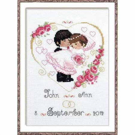 Riolis Cross Stitch Kit - Wedding Heart 1236