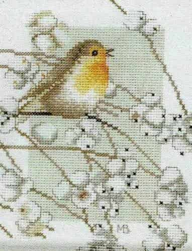 Lanarte Cross Stitch Kit - Robin 34941