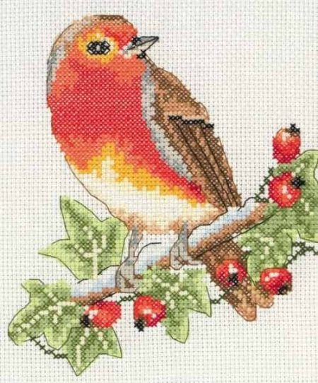 Anchor Cross Stitch Kit - Robin AK125