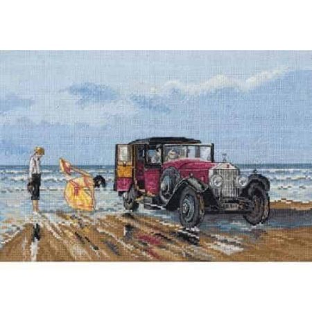 Anchor Cross Stitch Kit - Vintage Rolls on the Beach PCE760