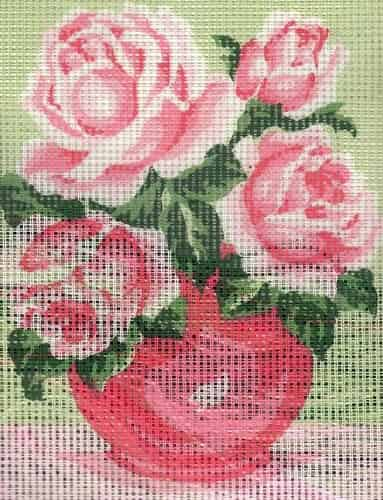 Grafitec Needlepoint Tapestry Kit - Romantic Rose Bouquet