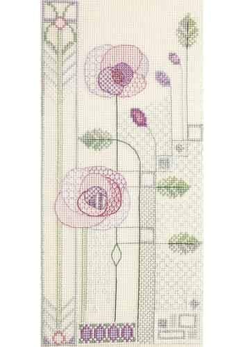 Bothy Threads Cross Stitch Kit - Evening Rose - Art Deco