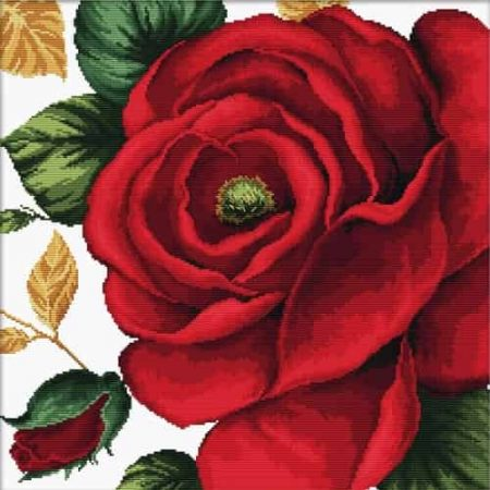 Needleart World No Count Cross Stitch Kit - Rose
