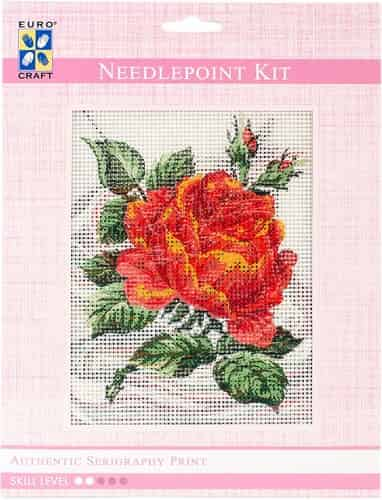 Grafitec Needlepoint Tapestry Kit - Red Rose and Rosebuds