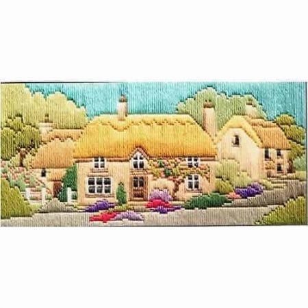 Derwentwater Designs Long Stitch Kit - Lanes Series - Rose Lane