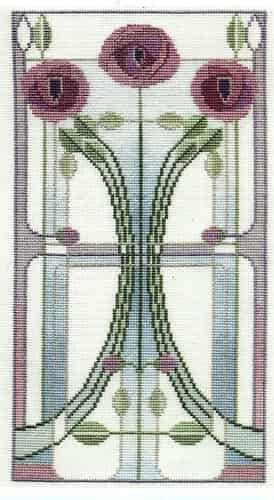 Derwentwater Designs Cross Stitch Kit - Mackintosh Panel, Rose Bouquet