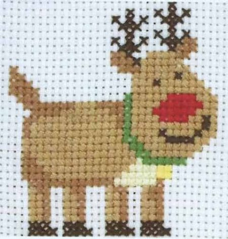 Anchor Beginners 1st Cross Stitch Kit - Rudolph 10010