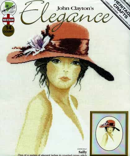 Heritage Crafts Cross Stitch Kit - John Clayton Elegance Sally