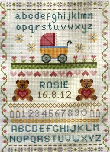 Anchor Cross Stitch Kit - Birth Classic Sampler ACS31